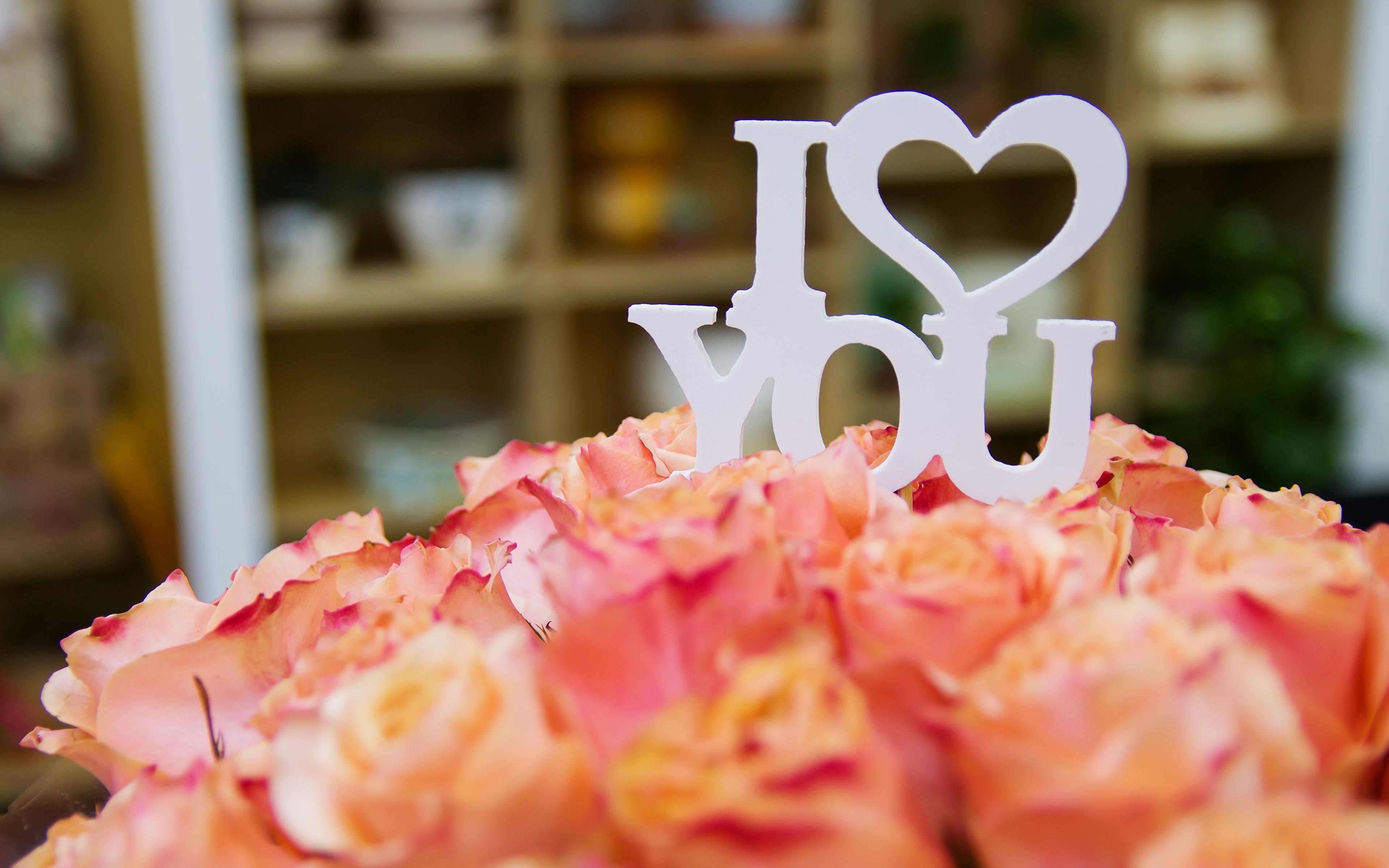 Mazzo Di Fiori Un Inglese.Immagine Festa Di San Valentino Inglese Cuore Bokeh Mazzo 3840x2400