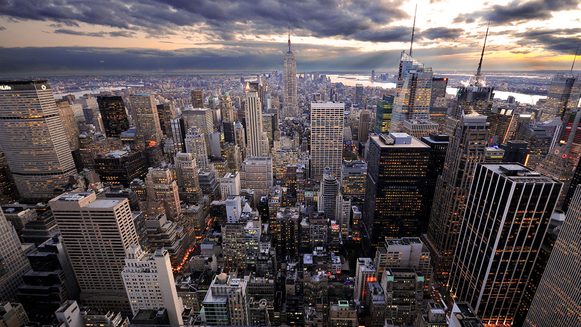 Desktop Hintergrundbilder New York City Usa Städte 1920x1080