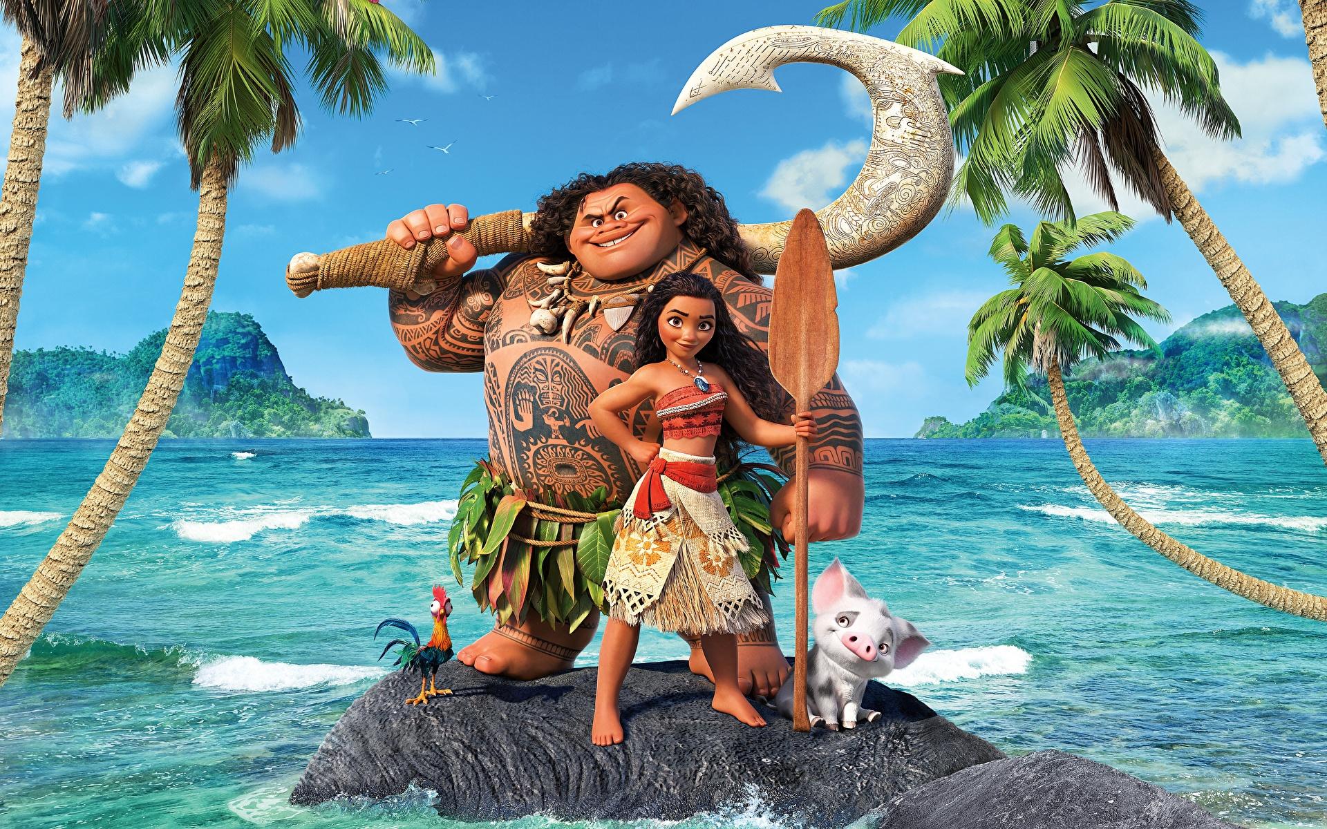 Foto Vaiana – Das Paradies hat einen Hak Maui Meer Mädchens Animationsfilm 1920x1200 Zeichentrickfilm