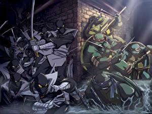 Hintergrundbilder Teenage Mutant Ninja Turtles Zeichentrickfilm