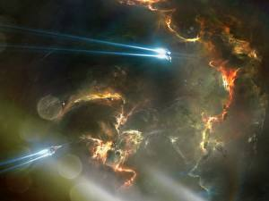 Images Technics Fantasy Ships Nebulae in space Fantasy Space
