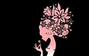 Bilder Vektorgrafik Blumen Mädchens