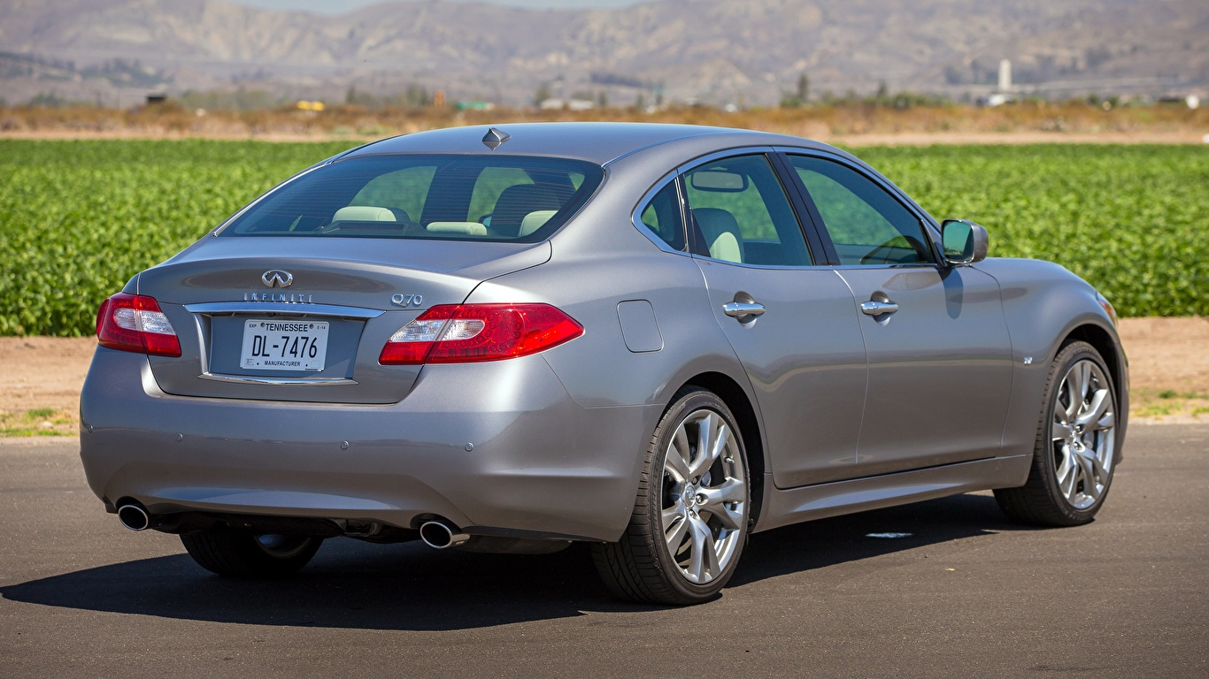 Bilder von Infiniti Q70 3.7, 2013 Limousine Grau automobil 1366x768 graue graues auto Autos