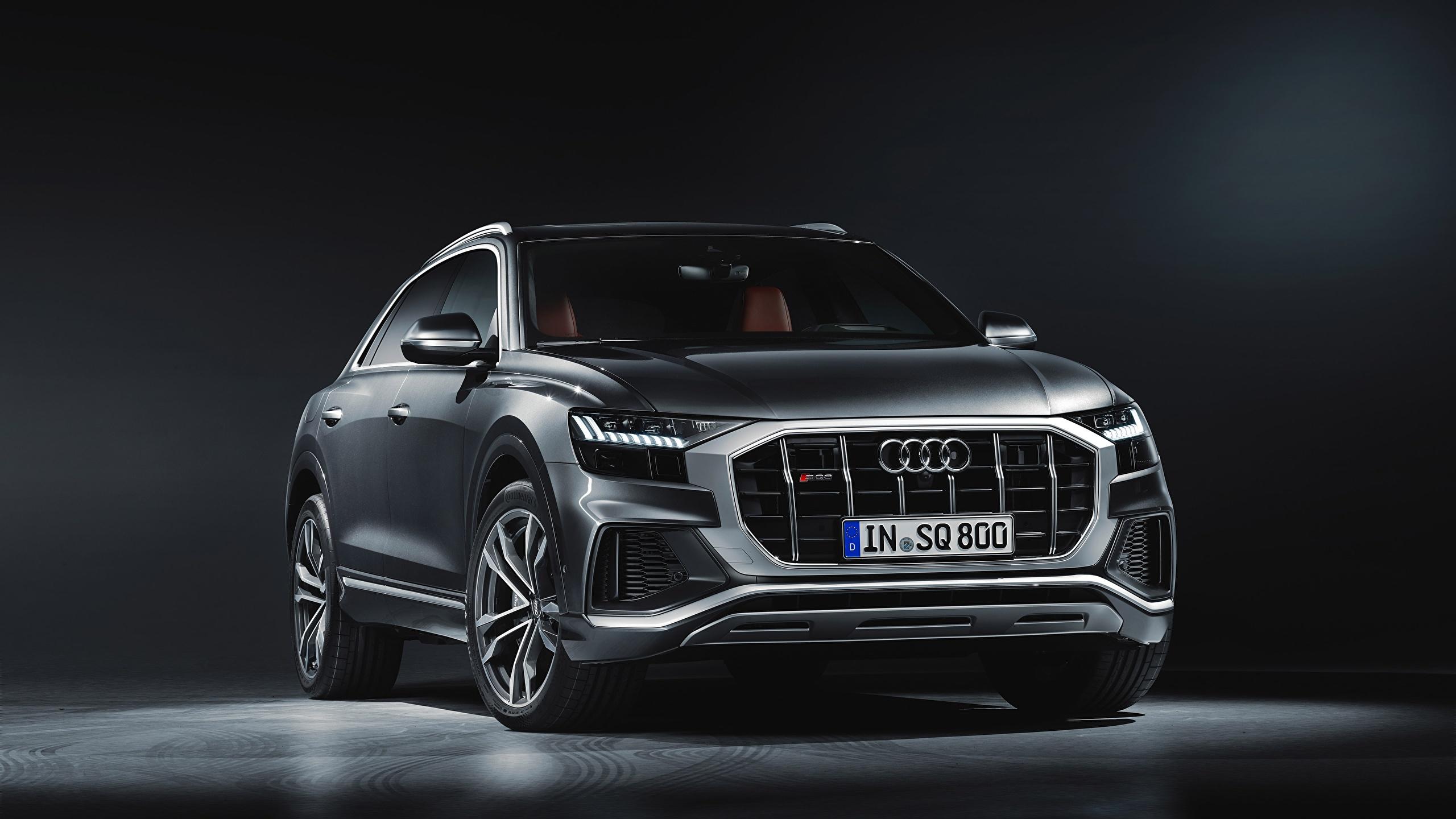 Picture Audi sq8 2020 gray auto 2560x1440 Grey Cars automobile