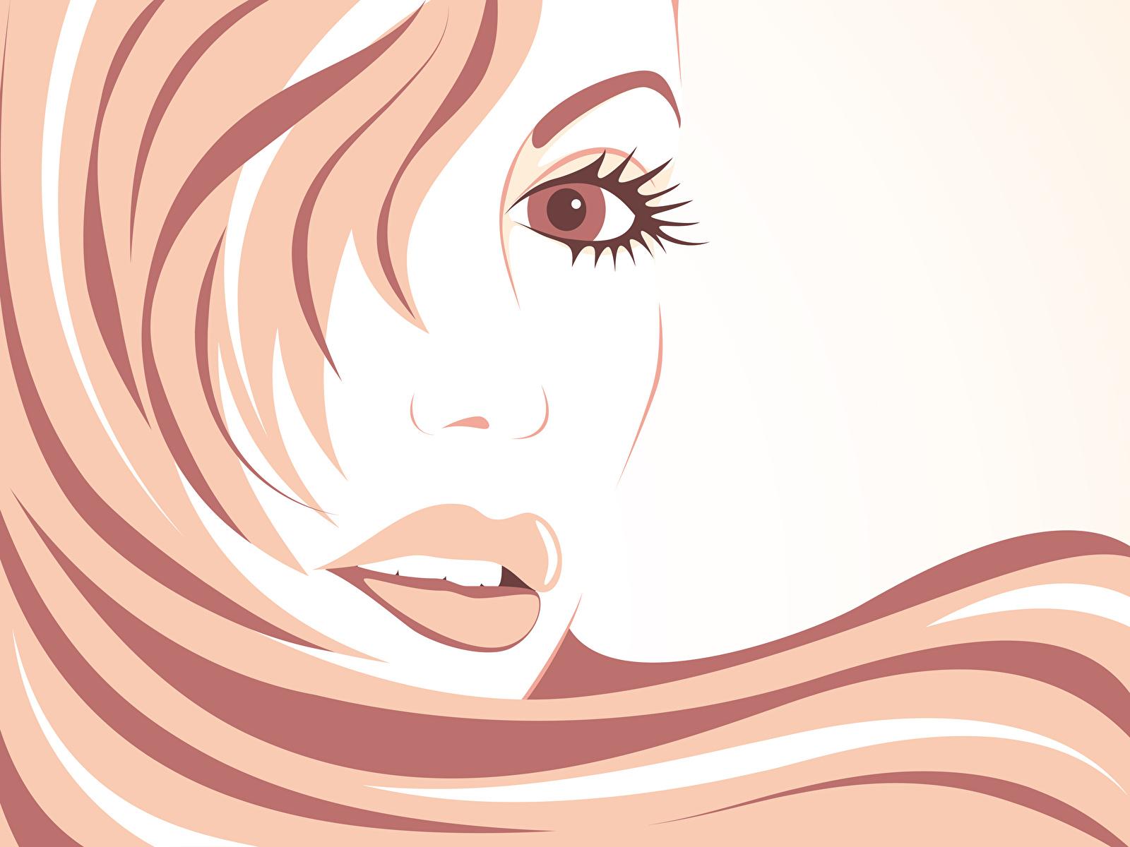 Papeis De Parede 1600x1200 Desenhado Labio Desenho Vetorial Face