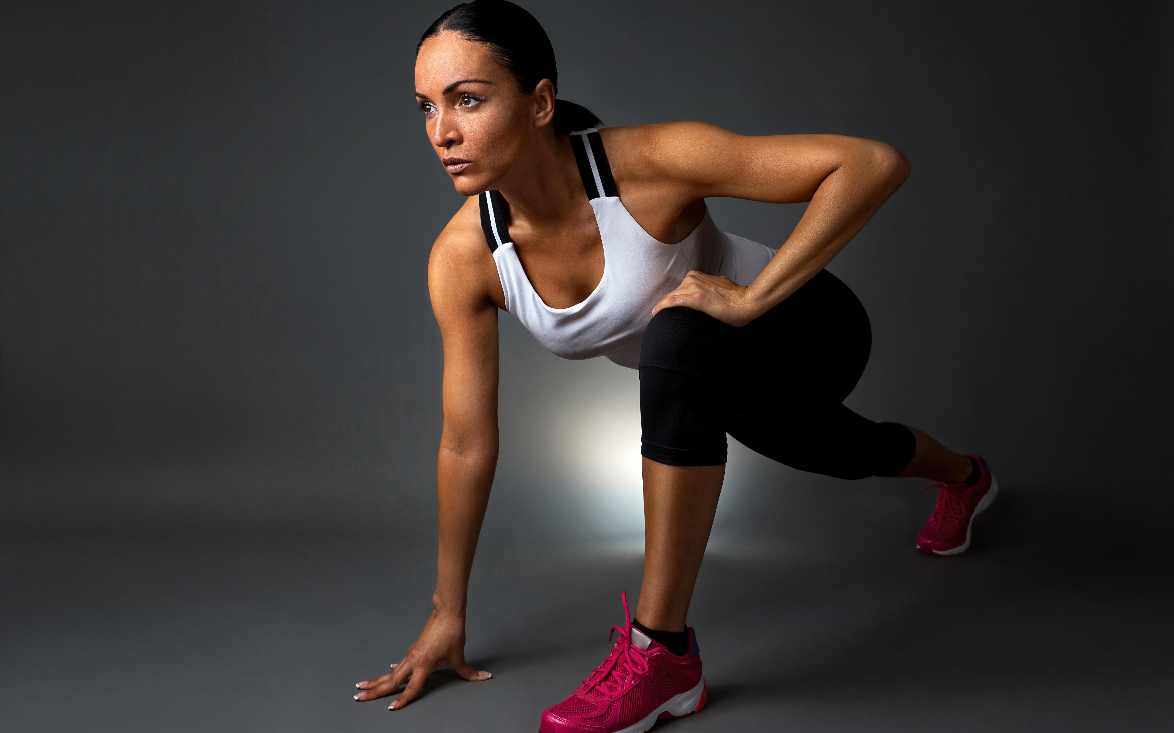 Wallpapers Fitness Girls Sport Singlet 3840x2400