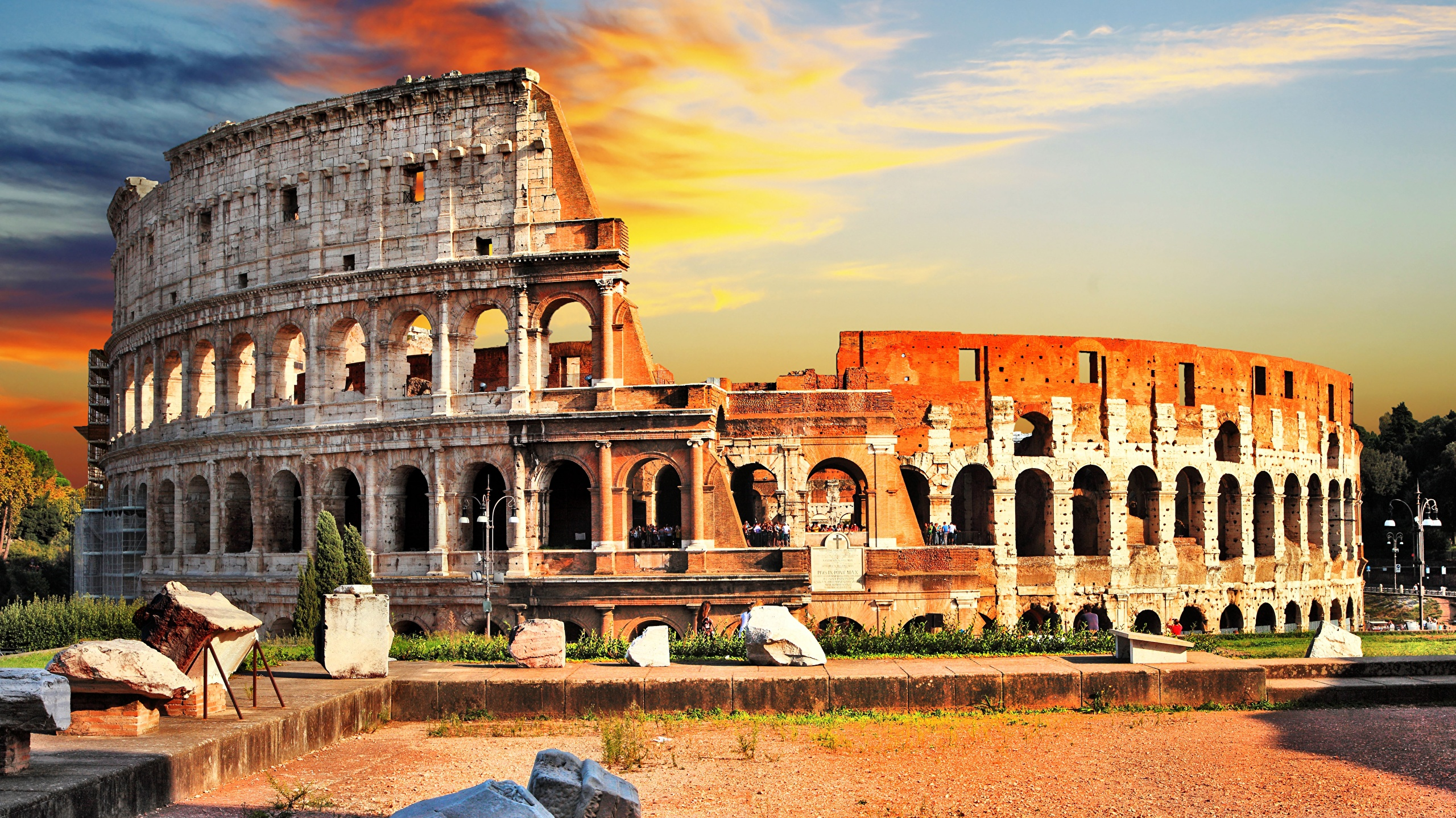 Pictures Rome Colosseum Italy Cities 2560x1440
