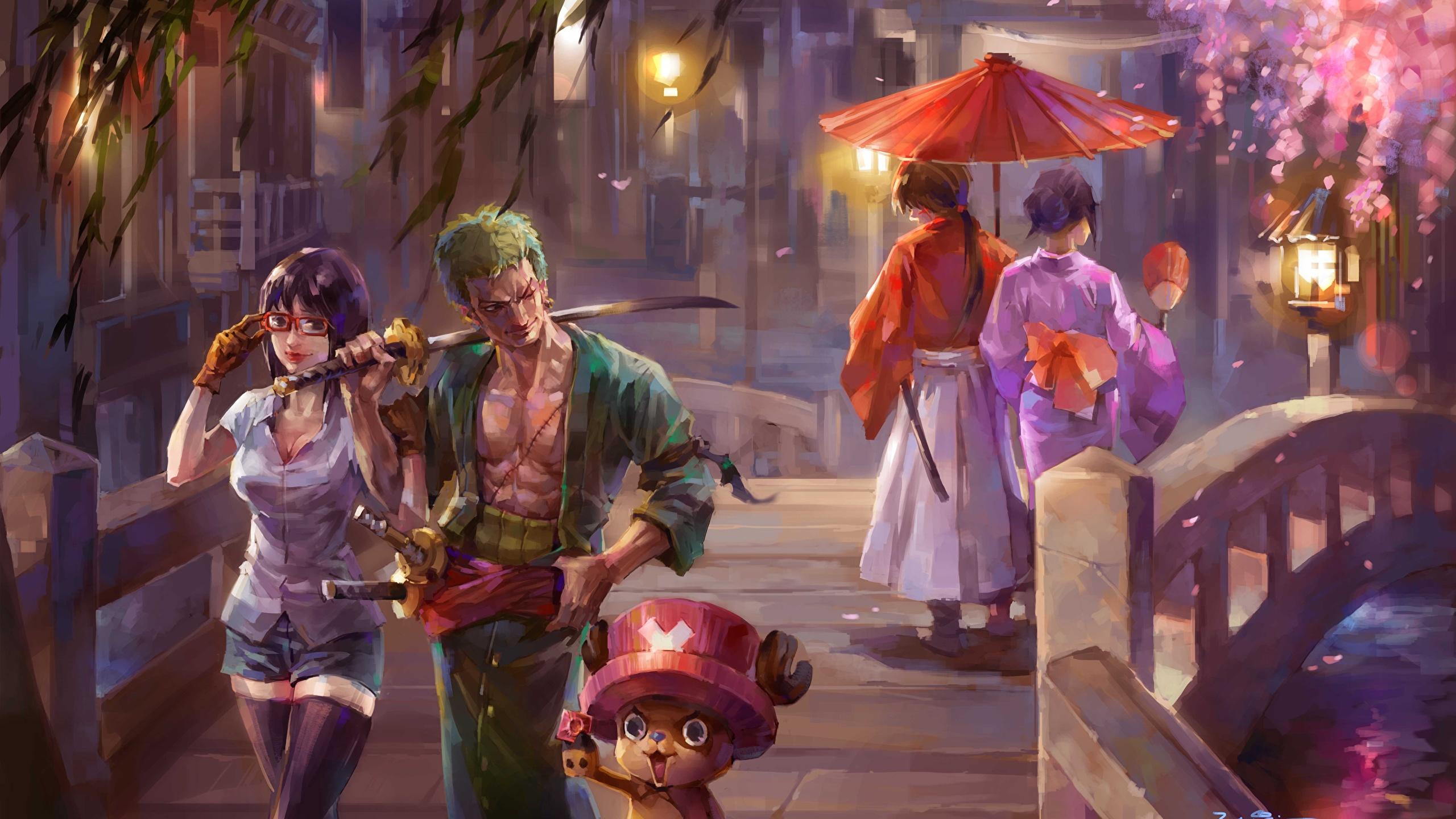Photos One Piece Sabre Man Warriors Anime Female Bridges