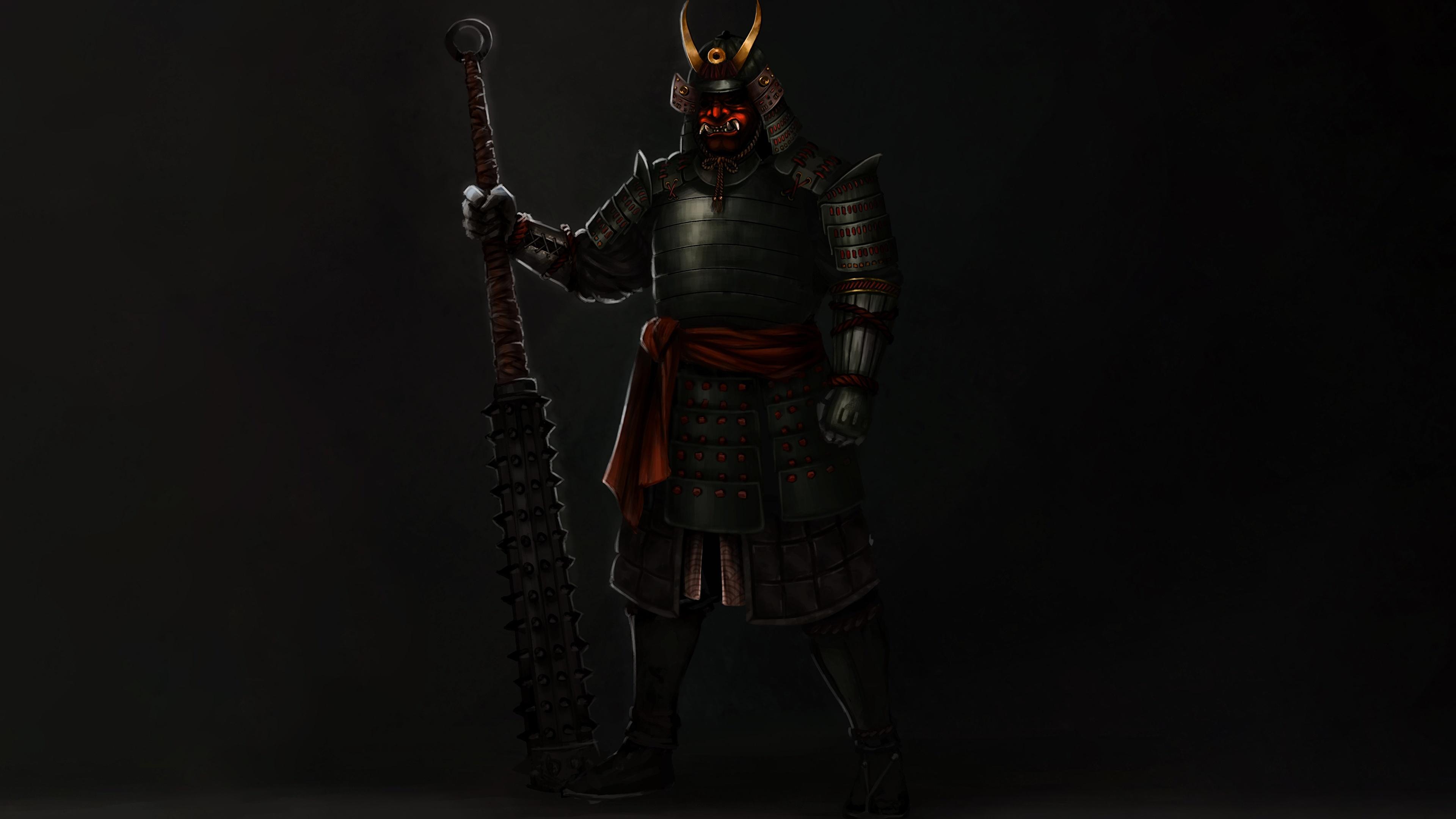 Pictures Armor Samurai Alejandro Castillejo Japanese 3840x2160