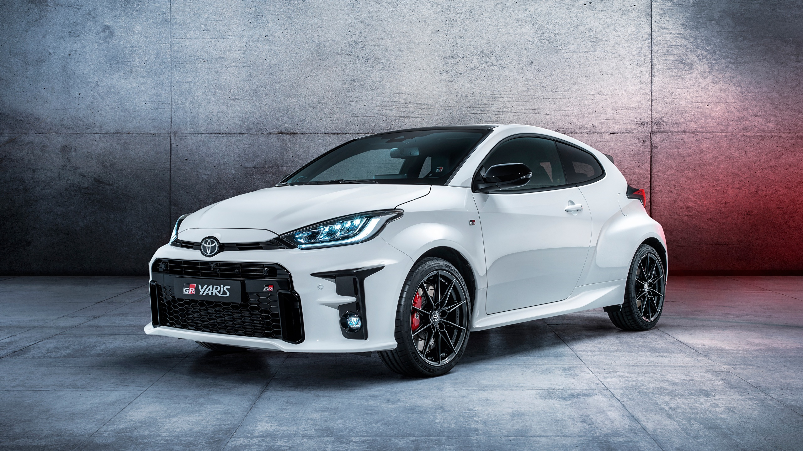 Picture Toyota hatchback, GR Yaris, 2020 White Cars 2560x1440 auto automobile