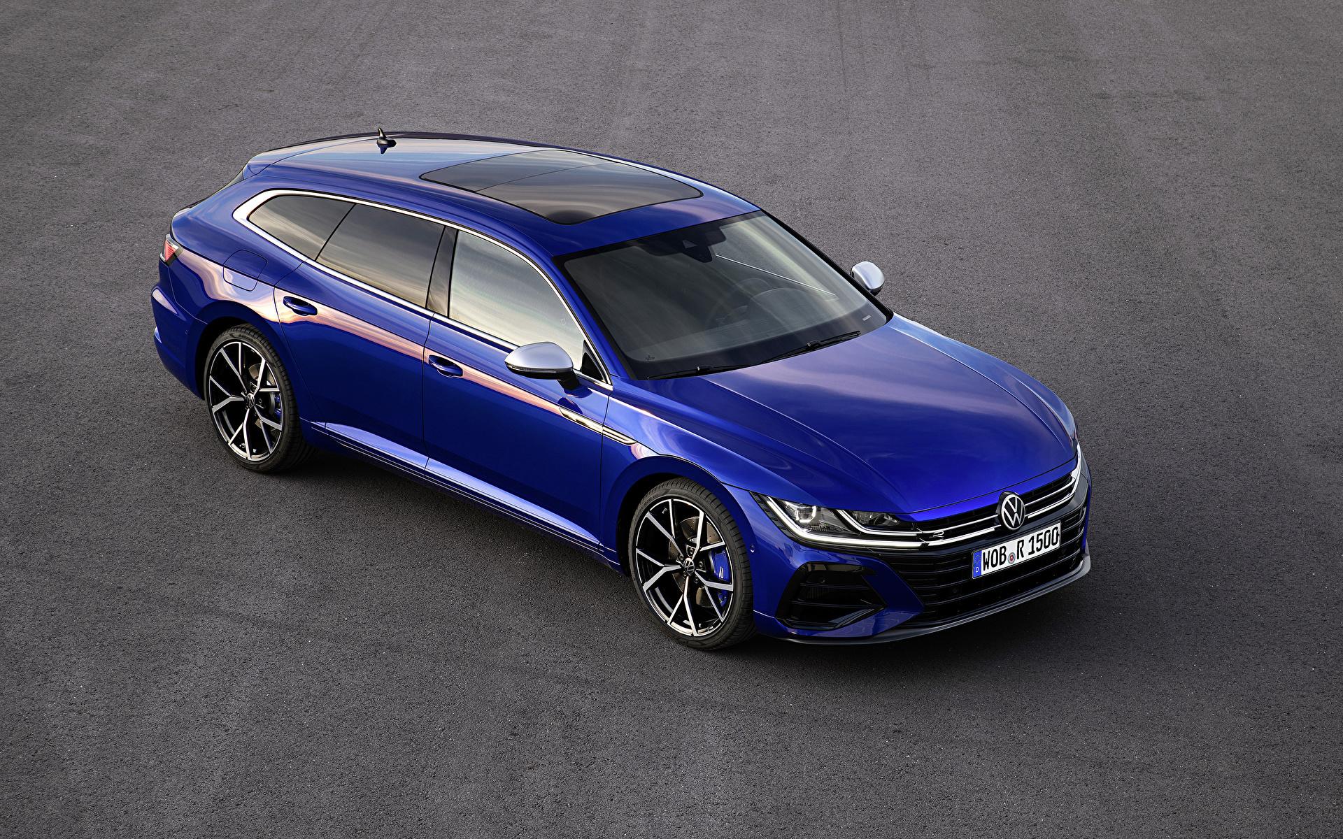 Foto Volkswagen 2020 Arteon Shooting Brake R Worldwide Blau Autos Metallisch 1920x1200 auto automobil