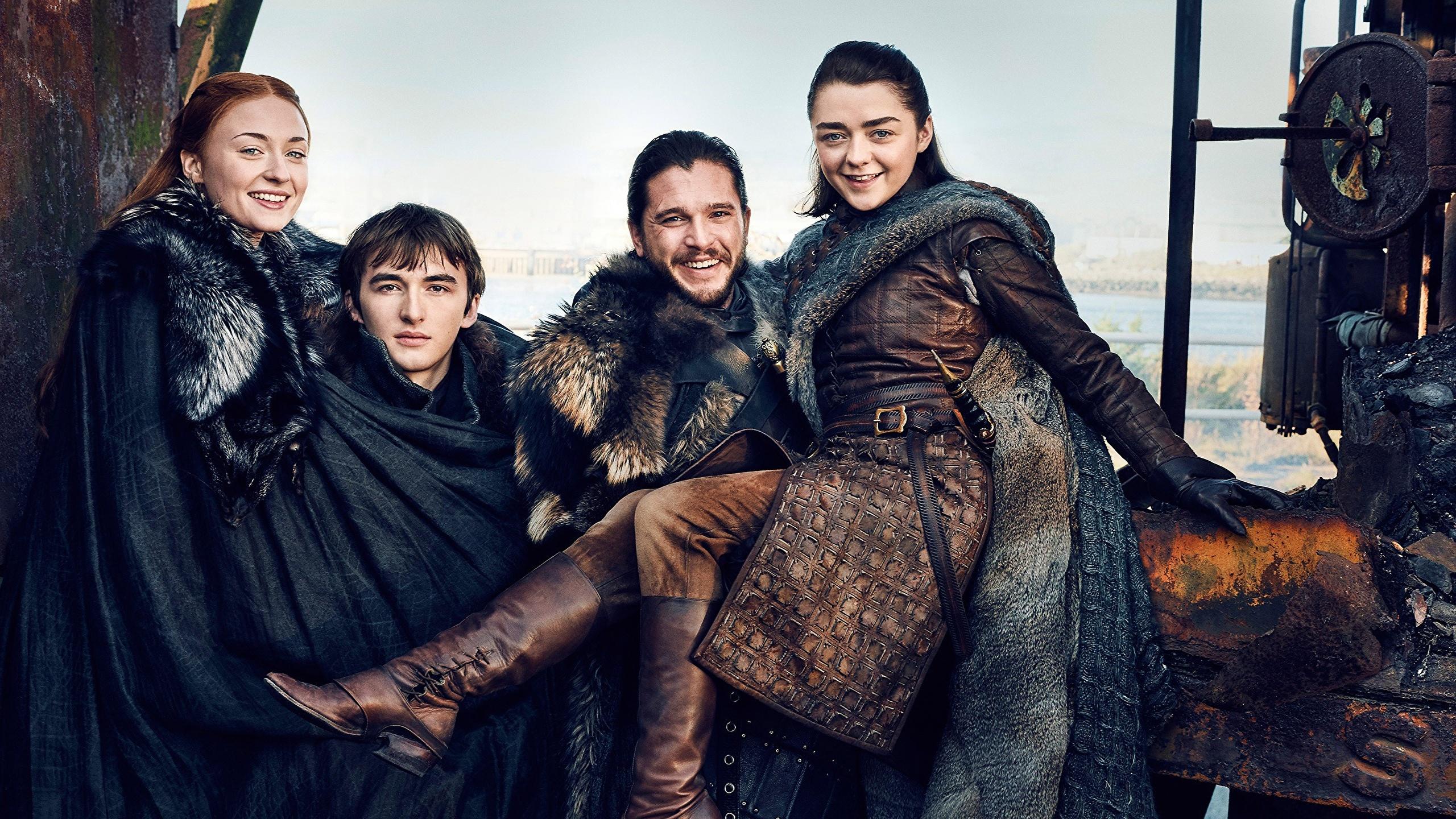 Foto Game Of Thrones Kit Harington Mann Lächeln Season 7
