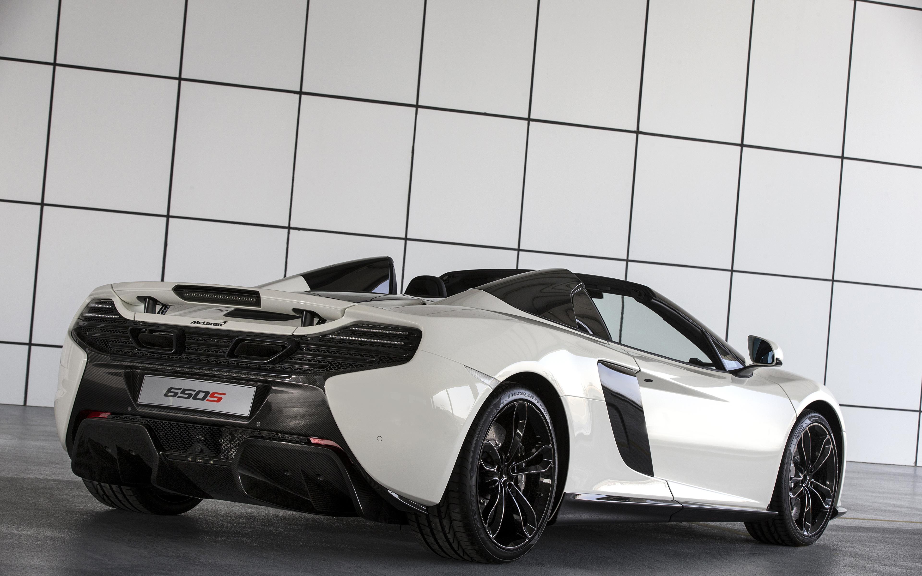 3840x2400 McLaren Tuning 2015 650S Spider Al Sahara 79 by MSO Blanco Metálico Vista Trasera autos, automóvil, automóviles, el carro, Tuneo Coches