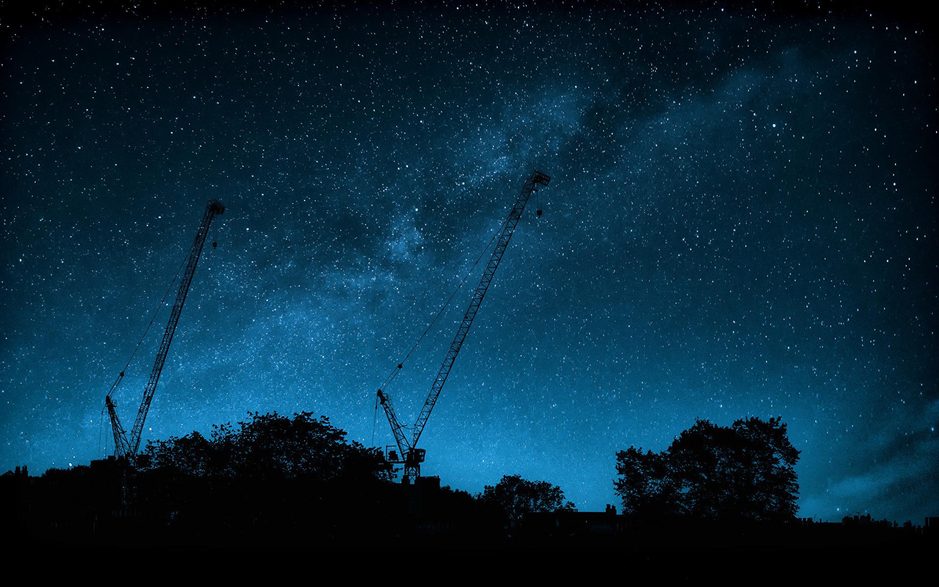 壁紙 19x10 天の川 空 恒星 夜 シルエット 宇宙空間 ダウンロード 写真