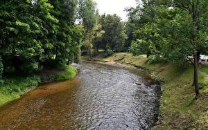 Hintergrundbilder Flusse Vilnius Litauen Vilnele river Natur