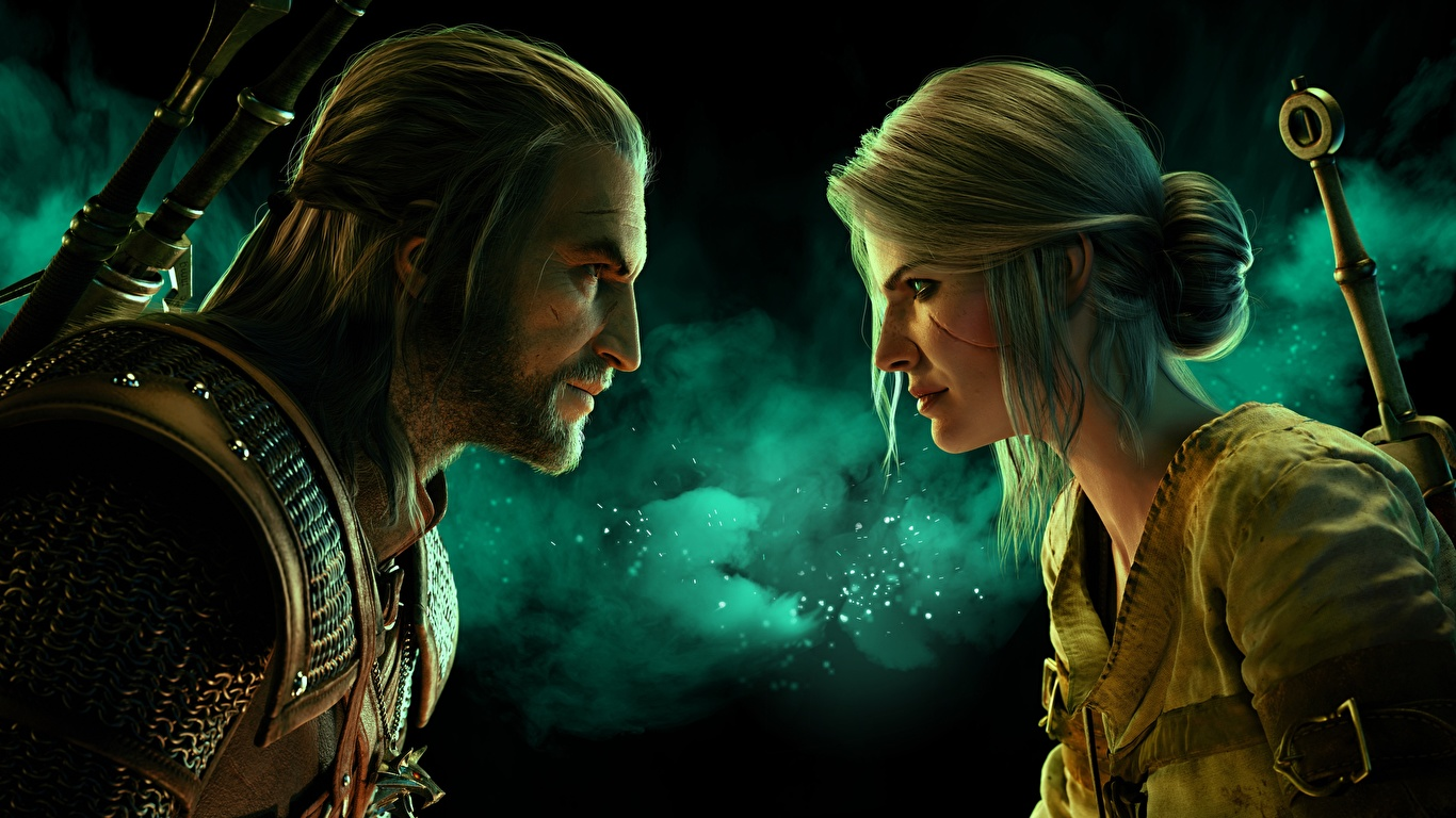 Pictures Female The Witcher 3 Wild Hunt Geralt Of Rivia 1366x768