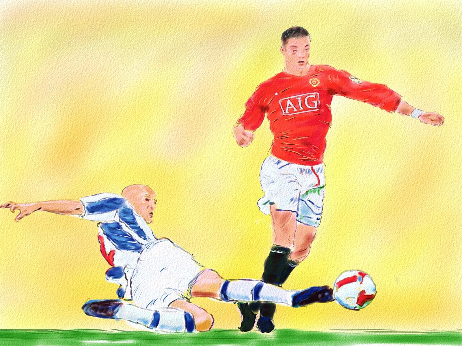 Foto The Tackle Ronaldo Manchester United 2 Fussball 1600x1200