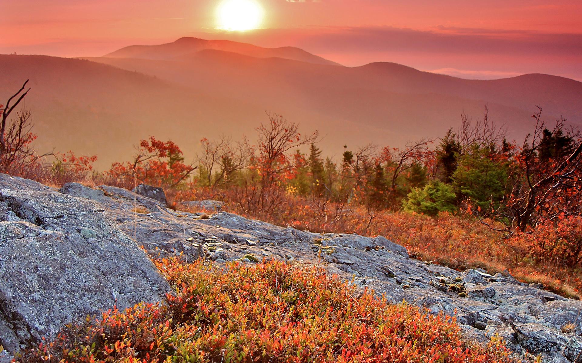 Sfondi del desktop Natura Il Sole Autunno Montagne alba e tramonto 1920x1200 montagna Albe e tramonti