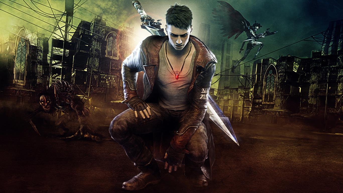 1366x768 Devil May Cry Homem Guerreiro videojogo, guerreiros Jogos