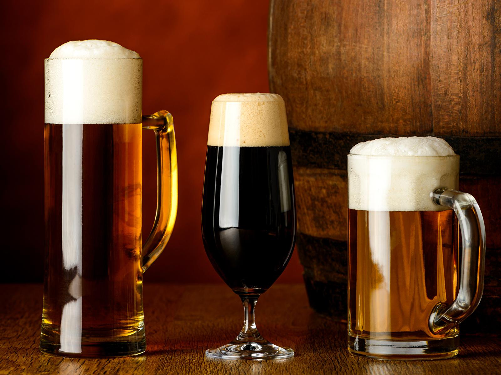Images Beer Mug Foam Food Three 3 Drinks 1600x1200