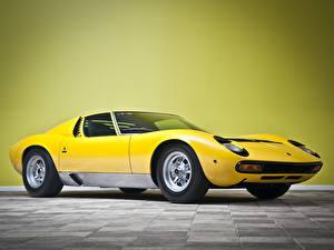 Hintergrundbilder Lamborghini Miura P400 SV Prototipo 1971 auto
