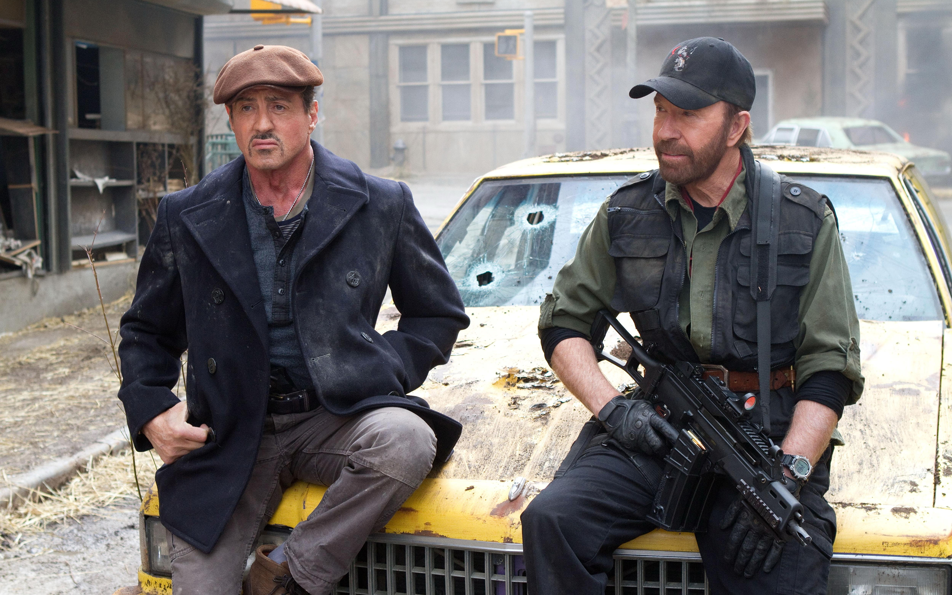 Picture The Expendables 2010 Chuck Norris Sylvester Stallone film 3840x2400 Movies