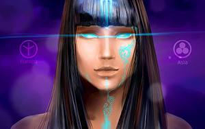 Fotos Vektorgrafik Fantasy Mädchens