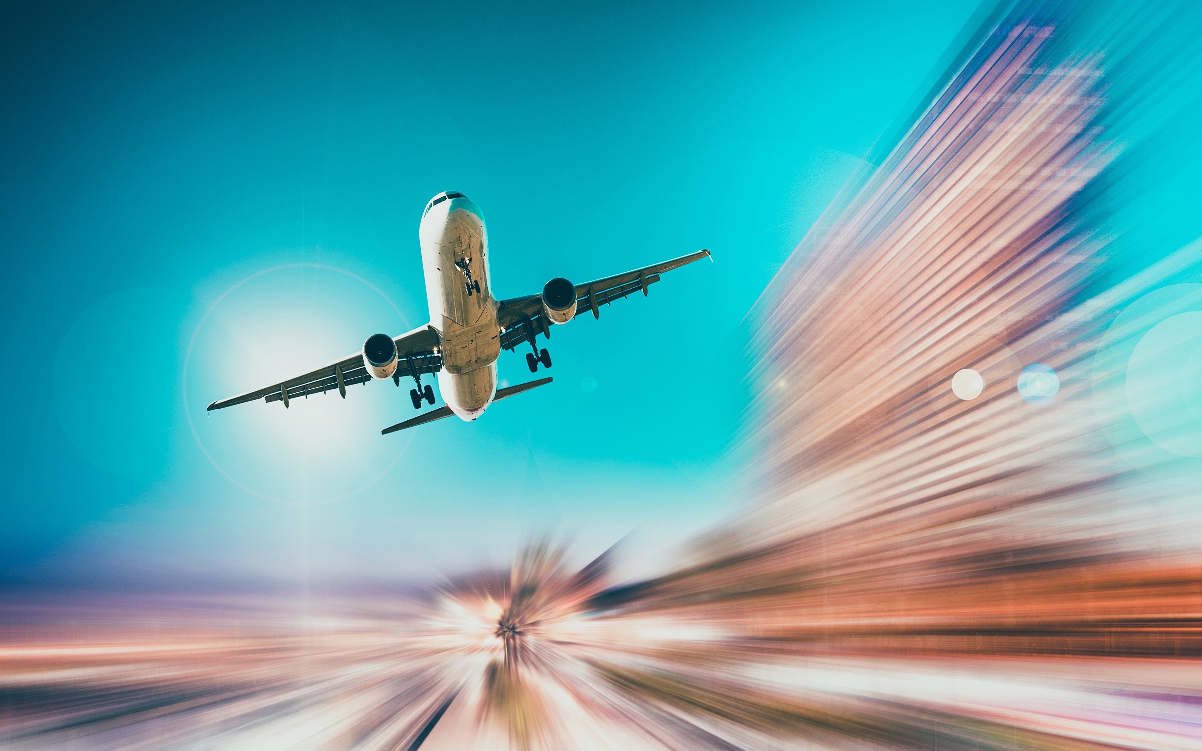 Photo Airplane Passenger Airplanes Takeoff Flight Aviation ...