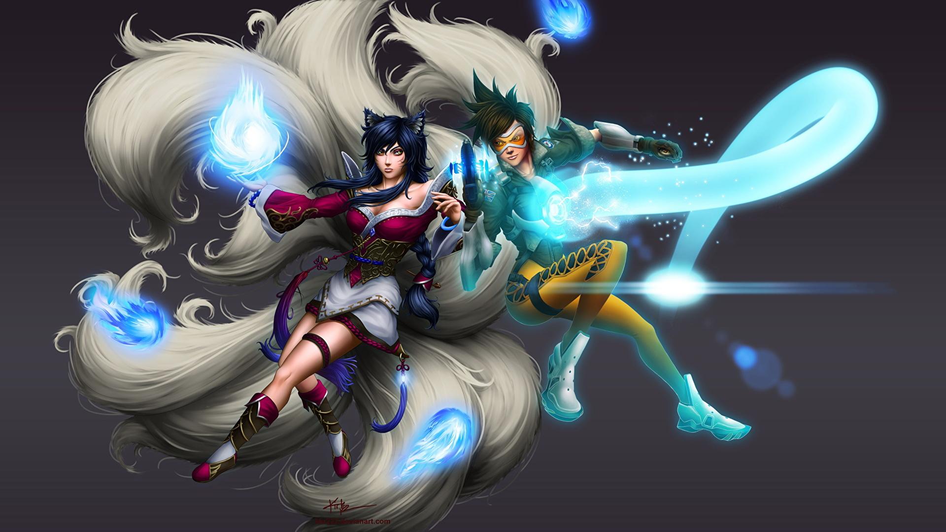 Fotos Von Ahri Overwatch League Of Legends Magie Tracer