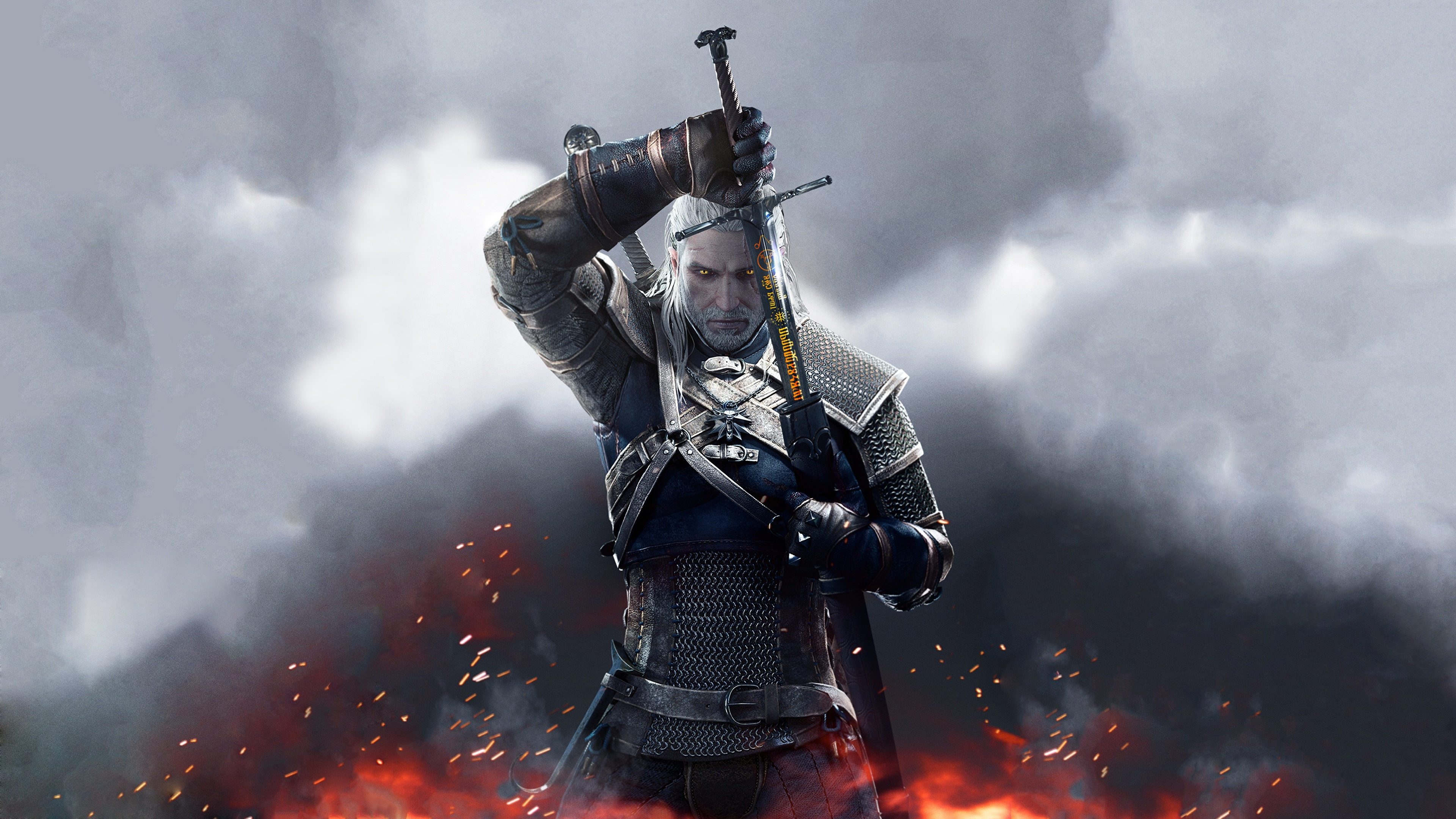 Picture The Witcher The Witcher 3 Wild Hunt Swords Armour