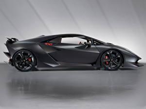 Fotos Lamborghini Grau Seitlich Luxus Sesto Elemento automobil