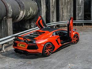 Hintergrundbilder Lamborghini Orange Hinten Luxus 0-4 Molto Veloce Autos