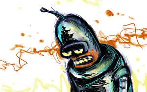 Hintergrundbilder Futurama Gezeichnet Bender Roboter Zeichentrickfilm
