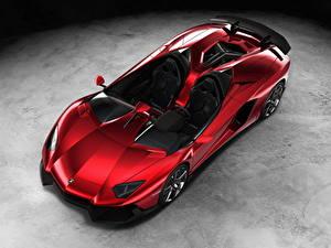 Hintergrundbilder Lamborghini Rot Cabrio Dunkelrote Luxus 2012 Aventador J auto