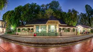 Bilder USA Disneyland Eisenbahn Kalifornien HDR Städte