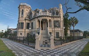 Hintergrundbilder USA Texas Eigenheim Design Galveston Städte