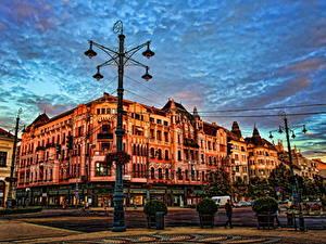 Hintergrundbilder Ungarn Himmel Stadtstraße HDR Debrecen