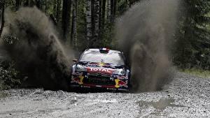 Bilder Citroen Schlamm Spritzwasser DS3 Autos Sport
