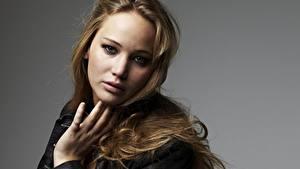 Bilder Jennifer Lawrence Blick Dunkelbraun Prominente Mädchens