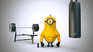 Fotos Ich – Einfach Unverbesserlich 2 Bodybuilding Hantelstange Animationsfilm