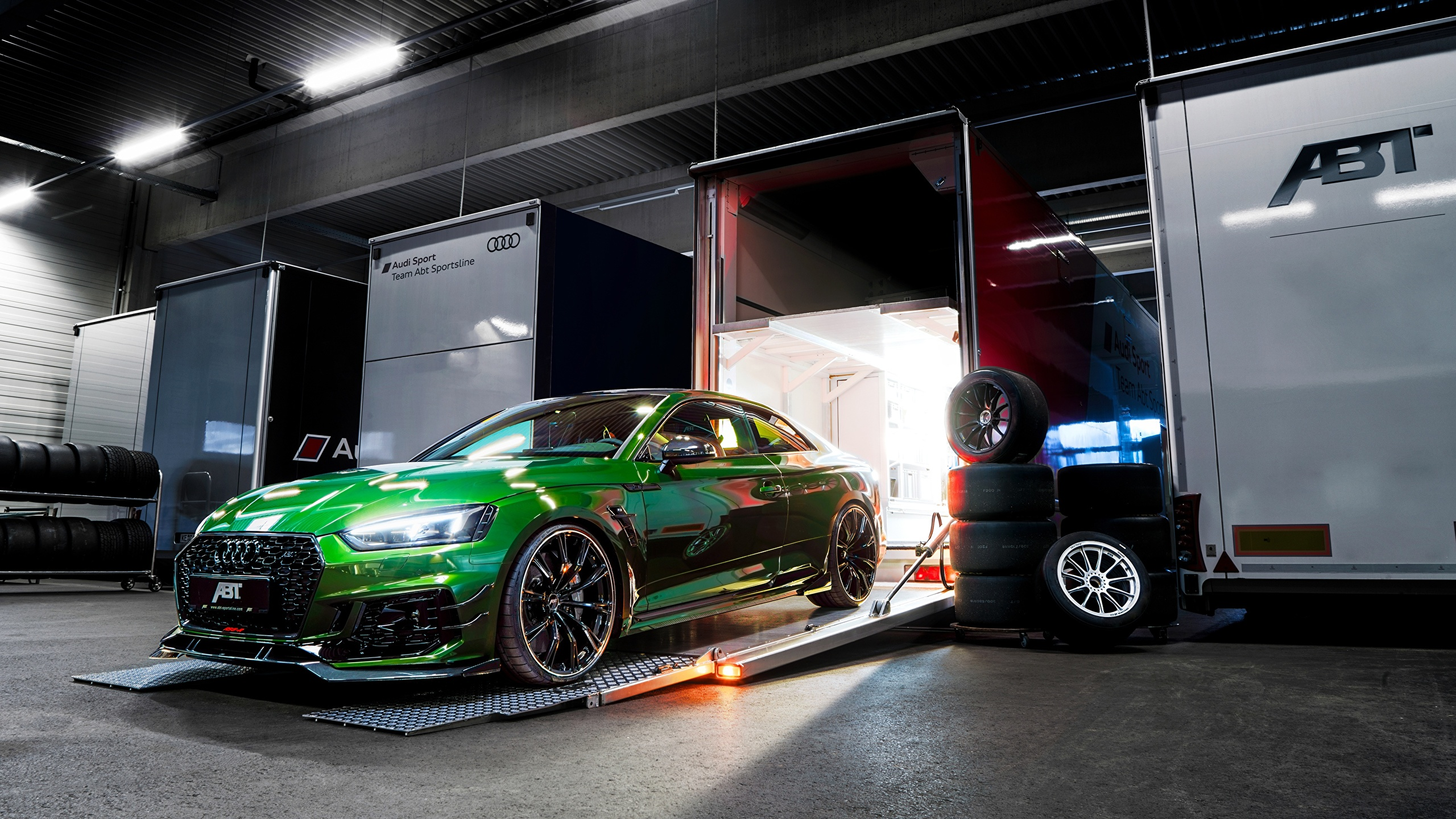 Fondos De Pantalla 2560x1440 Audi Rs5 2018 Rs5 R Abt Verde