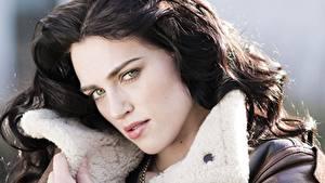 Fotos Katie McGrath Blick Gesicht Brünette Haar Prominente Mädchens