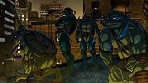 Bilder Teenage Mutant Ninja Turtles Krieger Zeichentrickfilm Fantasy