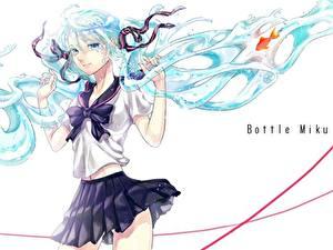 Hintergrundbilder Vocaloid Rock Schülerin Haar Schleife Anime Mädchens