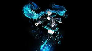 Hintergrundbilder Vocaloid Hatsune Miku Rock Haar Anime Mädchens