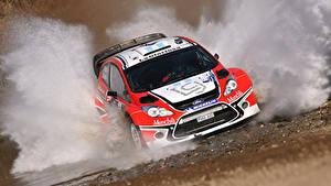Hintergrundbilder Ford Vorne Wasser spritzt Fiesta Autos Sport
