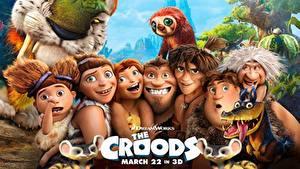 Hintergrundbilder Die Croods Mann Magische Tiere Junger Mann Zeichentrickfilm 3D-Grafik Mädchens