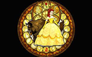 Papéis de parede Disney A Bela e a Fera Vestido Cartoons