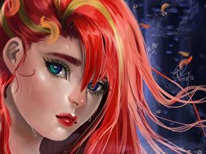 Hintergrundbilder Disney Arielle, die Meerjungfrau Gesicht Blick Haar Rotschopf Zeichentrickfilm Mädchens