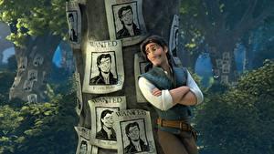 Fotos Rapunzel – Neu verföhnt Jugendlich Baumstamm 3D-Grafik